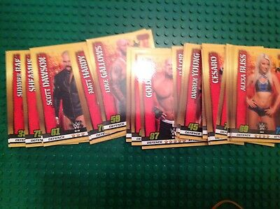 wwe slam attax 10th edition RAW cards