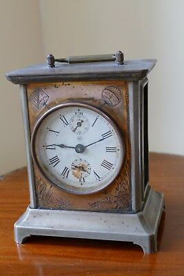 "Thomas Seth ""Mikado"" vintage carriage clock"