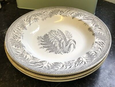 "Antique Danish Fearn 10"" Soup Plate"