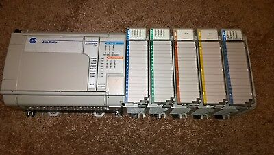 Allen Bradley Micrologix 1500 Loaded Rack 1764-24Bwa 1764-Lrp And More!
