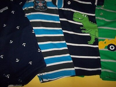 Carter's 6 M Boys One Piece Short Sleeve (lot of 4 )Short Outfit