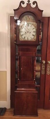 Antique Longcase Grandfather Clock By J Kern Swansea C 1840 8 Day