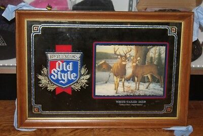 Old Style Beer chicago White Tailed Deer Mirror Sign NEW