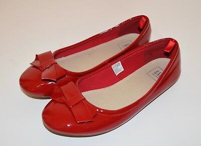 Gap Kids Girls ALPINE CHILL Red Christmas Holiday Bow Dress Shoes, Size 4 Youth
