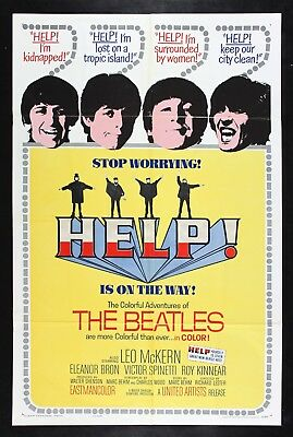HELP ! ✯ CineMasterpieces THE BEATLES VINTAGE ORIGINAL MOVIE POSTER 1965