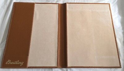 Official BREITLING portfolio document wallet A4 LEATHER brown watch brand NEW