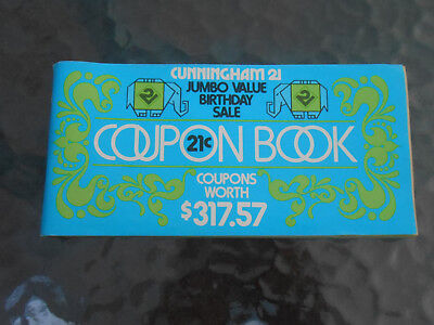 Vtg 1976 Ephemera Cunningham Drug Store Coupon Booklet
