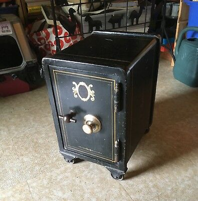 Small Rare Meilink Personal Home Security Safe Original Paint /  Working / C1900