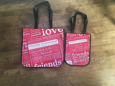 Lululemon Set of 2 Reusable Totes- One Small and One Large bag