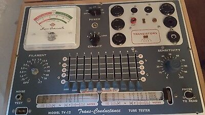 Trans-Conductance Tube Tester With Manual Superior Instruments Model TV-12 1955