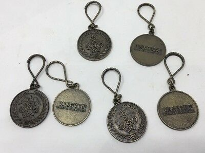 Lot Of 6 VASOTEC MERCK SHARP DOHME MEDALLION KEYCHAIN VINTAGE Medical