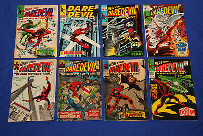 Daredevil Silver-Age lot/run #8 - #56 Key Marvel - 8 Comics total -