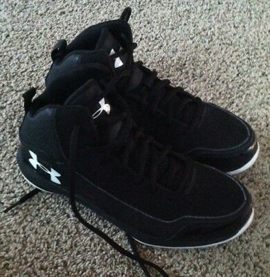 Under Armour Boys Girls Youth Hightop Athletic Basketball Shoes Black Size 5.5 E