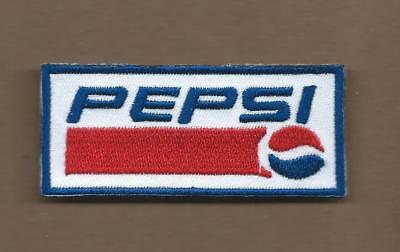 New 1 3/8 X 3 1/8 Inch Pepsi Iron On Patch Free Shipping