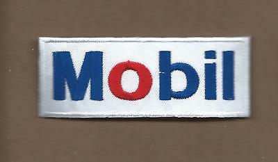 New 1 3/8 X 3 3/8 Inch Mobil Gasoline Iron On Patch Free Shipping