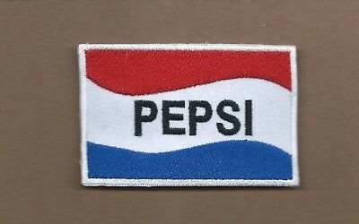 New 2 3/8 X 3 1/2 Inch Pepsi Iron On Patch Free Shipping