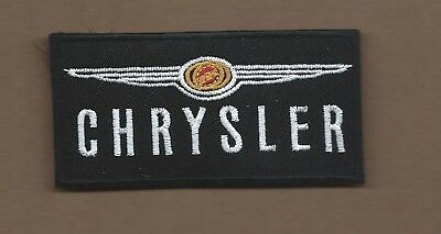 New 2 X 3 3/4 Inch Chrysler Iron On Patch Free Shipping