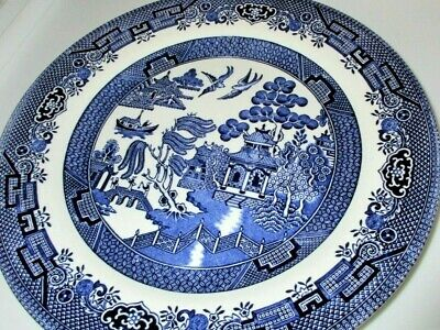 """Willow Blue by Churchill, Fine English Tableware, 10-3/8"""" Dinner Plate, EUC"""