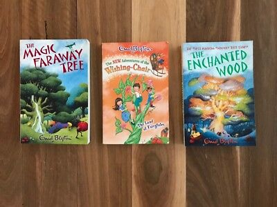 3 Enid Blyton books Magic Faraway Tree, Wishing Chair, The Enchanted Wood