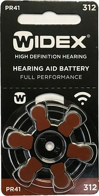 Widex Hearing Aid Batteries Size 312 (10 cards) 60 Batteries Total