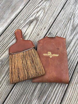 Vintage Cadillac Exclusive Accessories Whisk Brush in Leather Case