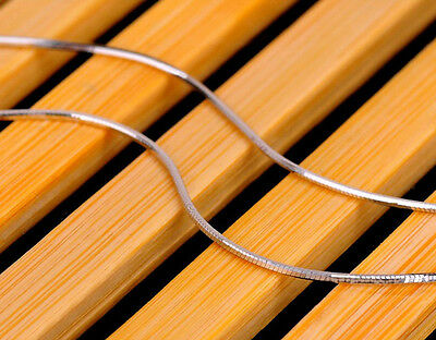 Pure Solid 925 Sterling Silver Snake Chain Necklace