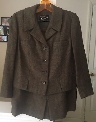 Vintage Retro 1950's Women's Suit With Skirt Size 12 made by Crestmoor