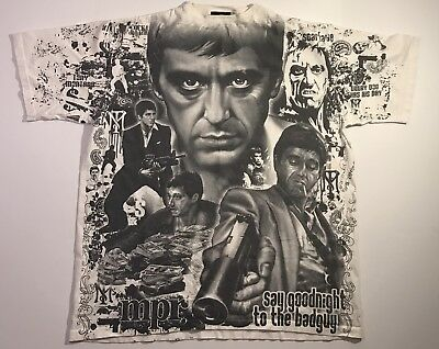 VTG 90's Scarface All Over Print T Shirt USA Made Size Xl Supreme Condition Tony