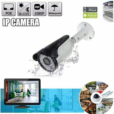 POE HD 1080P 2Mp Waterproof Outdoor Network IP Dome Camera IR Night Vision Metal