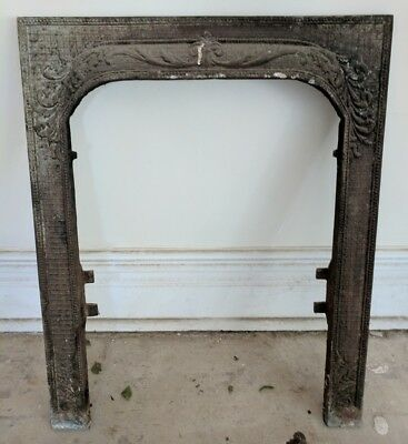 Antique Metal Fireplace Surround Grate from 1920s Era House - Great Condition