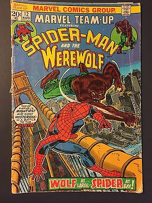 Marvel Team-Up  #7 and #12 FN Spider-Man & Werewolf By Night and Thor