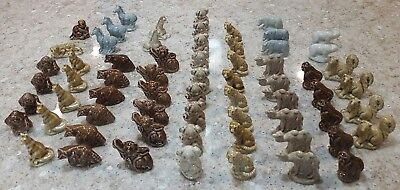Lot of 65 Assorted Wade Red Rose Tea Figurines, Mixed Animals
