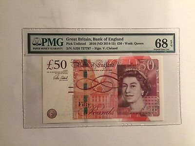Great Britain Bank of England 2010 50 Pounds MS68
