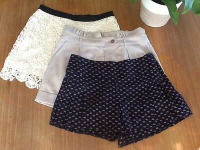 Bulk Lot 3 Pairs Of Dressy Shorts Valley Girl Cotton On Spicy Girls Size 8-10