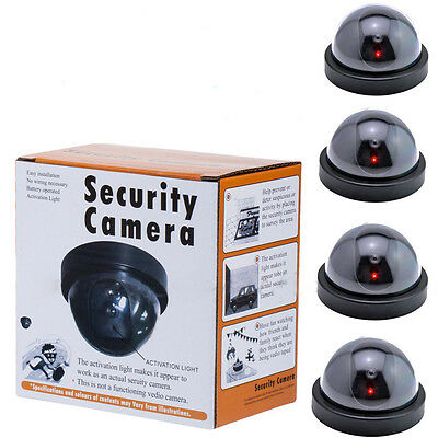 Fake Dummy Dome Surveillance Home Security Camera with LED Sensor Light WZ