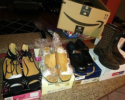 lot of 4 womens shoes  with boxes