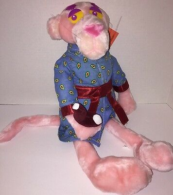 Pink Panther Plush With Robe And Pipe 18 Inches Long With Tag