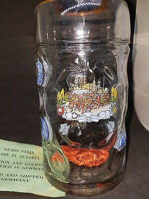 Bockling Gruss Vom Oktoberfest Munchen Heavy Glass Dimples Beer Mug New Large