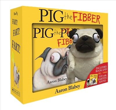 New Pig the Fibber + Farting Plush boxed set By Aaron Blabey