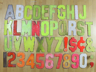 VTG Cast Aluminum Metal 7.5 Inch Industrial Letters Commander Signs Board