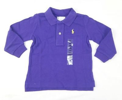 Ralph Lauren Baby Boys' Long Sleeve Cotton Polo Shirt Top sizes 18,24 months