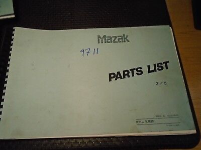 S523la0017e For Sale 15 Mazak Parts List Manual For V 40