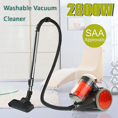 2800W Multi Bagless Vacuum Cleaner Cyclone Cyclonic Design Suction Powered Floor