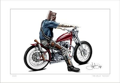 Ned Kelly   Outlaw  On  A  Harley    Such Is Life        Limited Edition