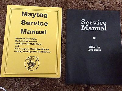 Maytag Vintage Washing Machine Service Manuals  and Parts Catalogs