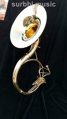 """Sousaphone 22""""  in Gold Lacquer Polish Made of Brass With Free MouthPc& Case Box"""