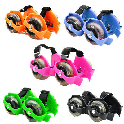 Fire wheel Roller Small Swirl Flash Wheels Adjustable 1 Pair Colorful Flashing