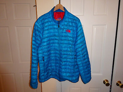The North Face Mens Thermoball Jacket Coat Full Zip Insulated Blue Size Xl