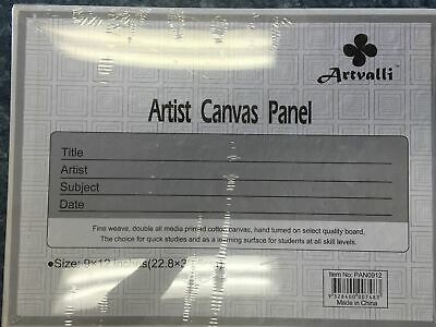 "10 Blank Panels 10""x 12"" Artist Canvas Panel Board Art Drawing Wholesale Arts"