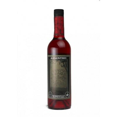 Demoiselle Rouge (red) 750ml Real Absinthe. Grown and Distilled in Australia.